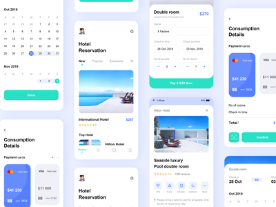 hotel reservation 2 ux ui 概念 logo cool colors icon blue app hotel reservation