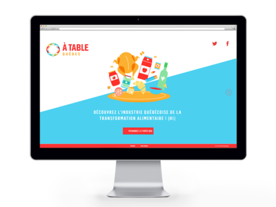 ATQC // Microsite vector microsite landing mobile app ui web ux design