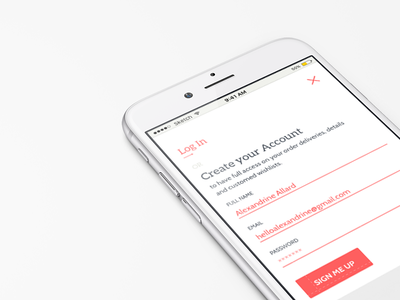 Sign Up   001 mobile design form signup login ux ui