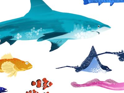 Swimming in Diversity inclusion diversity ui digital illustration