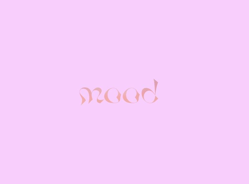 Mood typography branding design