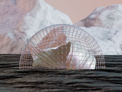 Water Dome ~ blender3dart art direction 3d artist blender blender 3d 3d art photoshop graphic 3d design