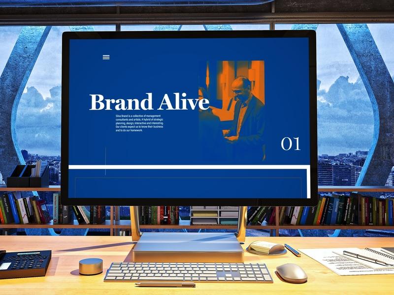 Main-stage Concept | Silva Brand identity illustrator clean lettering website type web minimal typography ui ux uidesign vector illustration design branding