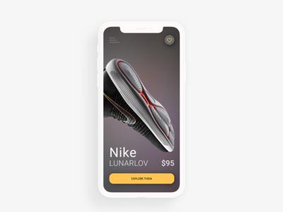 Nike Shoe Concept UI