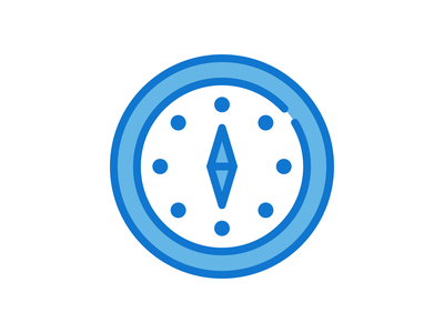Compass Icon madewithaffinty flat iconography adobe illustrator cc design dribbble illustration affinitydesigner