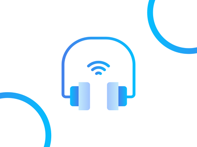 Headset logo iconography flat vector affinitydesigner adobe illustrator cc design dribbble illustration