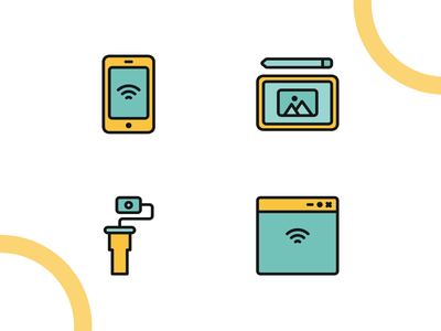 Internet Of Things icon flat madewithaffinty iconography vector affinitydesigner adobe illustrator cc design dribbble illustration