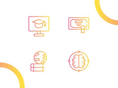 Education icon iconography flat vector affinitydesigner adobe illustrator cc design dribbble illustration