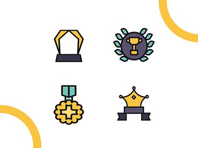 Awards icon iconography vector affinitydesigner adobe illustrator cc design dribbble illustration