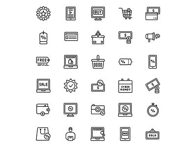 Cyber Monday Icon icon madewithaffinty flat iconography vector affinitydesigner adobe illustrator cc design illustration dribbble