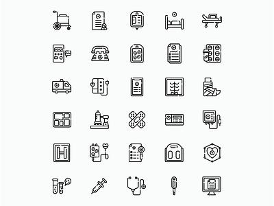 Medical Icons icon flat madewithaffinty iconography vector affinitydesigner adobe illustrator cc design dribbble illustration