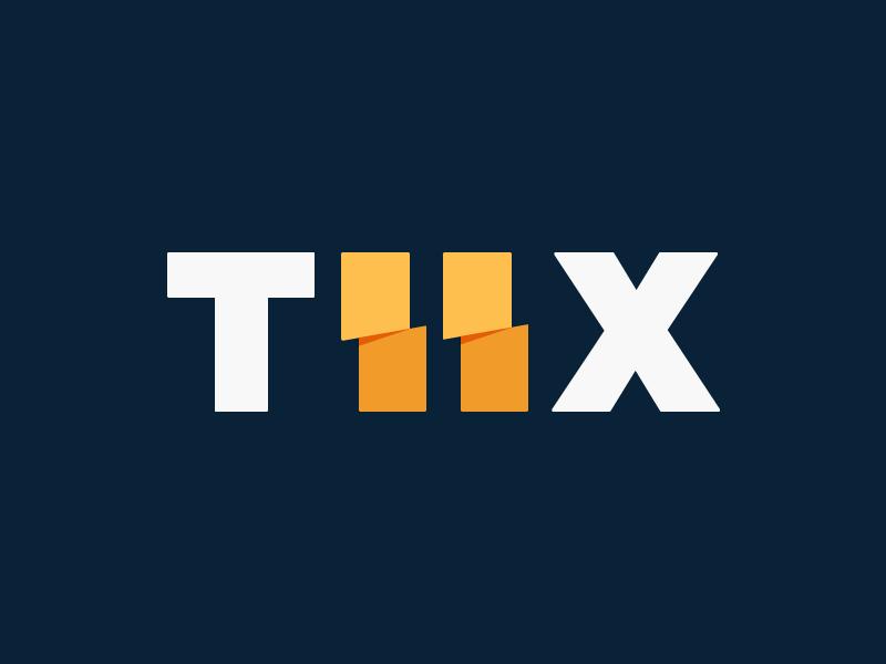 TIIX Branding branding logo sports tickets ticket flat abstract clean color football baseball soccer