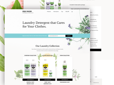 Roux Maison imagery warmth web subscription products store laundry soft flowers foliage floral