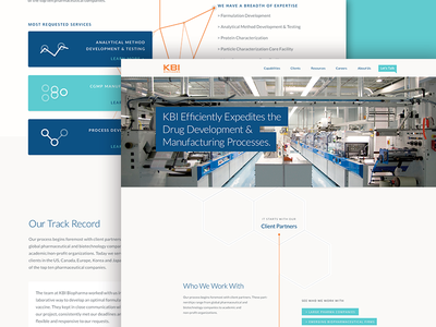 KBI Redesign - Unused Concept biopharmaceutical redesign ui web progress map illustration biopharma