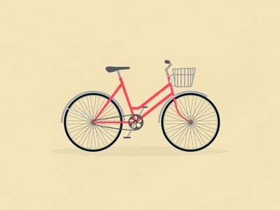 Bike airbnb texture pedals fender illustrations basket bike
