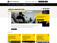 Focus Area knight foundation yellow grants layouts components color system web colors