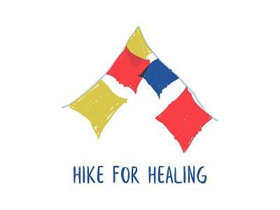 Hike For Healing Fundraiser ornagle product dino fundraiser volunteer mental health nepal social impact visual design logo branding