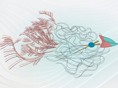 Spaghetti Bird product dino creative design whimsical illustration hand drawn