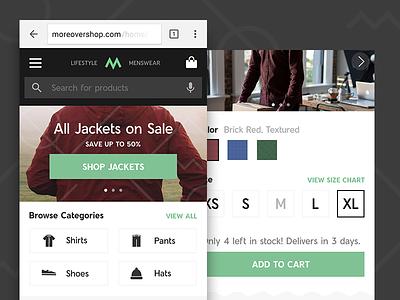 UX Principles - 03 e-commerce clothes fashion product product page landing home app ui ux google
