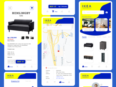 IKEA Mobile App | Case Study case study prototype figmotion figmadesign product design product motion design app animated gif mobile illustrations clean ui ux research ux design branding mobile design ui design app ux ui