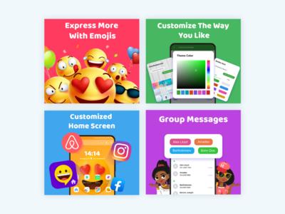Emoji Launcher illustration design ui app