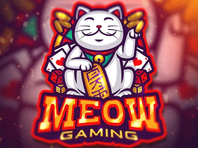 Meow Gaming esportslogo esports mascot cat design animal adorable procreate logo chibi artwork cute character illustration