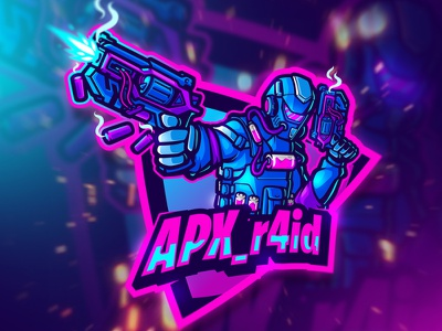 APX_r4id ESPORTS LOGO game fps gaminglogo gaming esports logo esport logo mascot character mascot design mascotlogo esportslogo esportlogo esports angry artwork cute procreate logo mascot character illustration