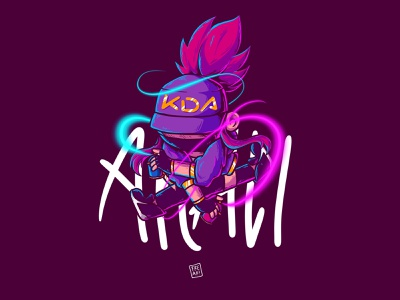 K/DA Akali from LoL - fanart cute akali character illustration chibi fanart