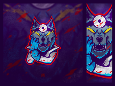 Dr. Wolf procreate bleed blood awesome mascot cool angry skecth esport logo doctor animal wolf