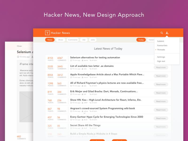 Hacker News Redesign redesign news hacker ycombinator ux ui hn