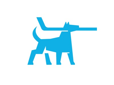 Sport App Concept hockey stick dog