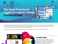 The Most Prominent Digital   Graphic Design Trends of 2019