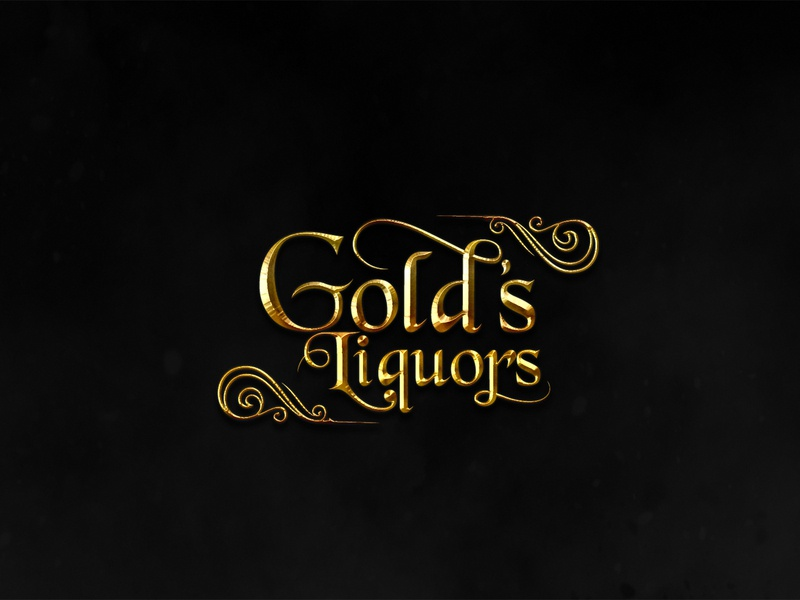 Gold's Liquors - Logo Design Project best logo design logo design online logo ideas logodesign best logo maker logo design ideas 3d logo maker business logo design logo maker custom logo design logo design services
