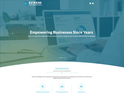 EFREM Technologies - Website Design Project