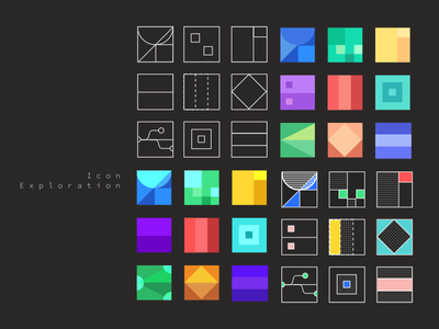 Exploration of color and shape icon color portfolio