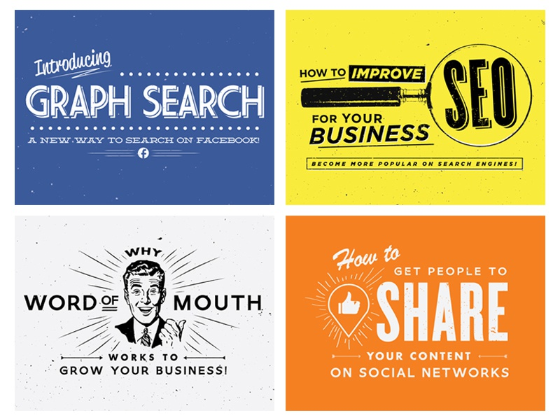 Blog Graphics blog tumblr likeable local typography retro vintage illustrator facebook graph search seo social media business