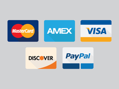Credit Card Icons icon credit card master card american express visa discover paypal jackthreads flat ux