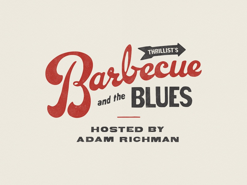 Barbecue and the Blues nyc barbecue bbq food event script type typography lettering branding logo