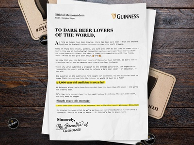 #stoutmoji typography print manifesto petition bottle coaster editorial letter unicode emoji beer guinness
