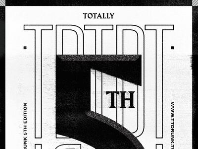 5 black  white texture typography print poster