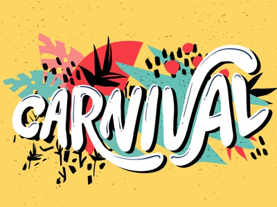 Carnival lettering