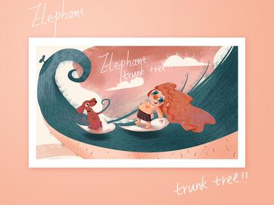 elephant trunk tree