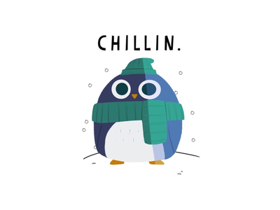 CHILLIN. penguin illustration digital artist digital art gubslyart gubsly instagram redbubble recent dribbblers dribbble hello dribbble