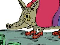 Children's book illustration-Armadillo