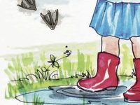 Children's book illustration-Dirty Feet