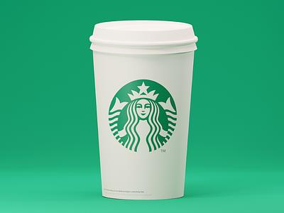 Cup Plain illustration branding artwork color flat art 3d 3d art 3dsmax 3d artist 3d animation 36 days of type