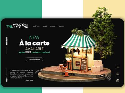 'The Tapri' UI/UX illustration branding artwork color flat art 3d 3d art 3dsmax 3d artist 3d animation 36 days of type
