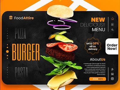Food Attire UI/UX illustration branding artwork color flat art 3d 3d art 3dsmax 3d artist 3d animation 36 days of type
