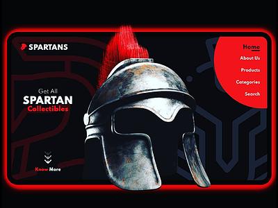 Spartans UI/UX illustration branding artwork color flat art 3d 3d art 3dsmax 3d artist 3d animation 36 days of type