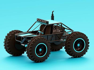 Truck illustration branding artwork color flat art 3d 3d art 3dsmax 3d artist 3d animation 36 days of type